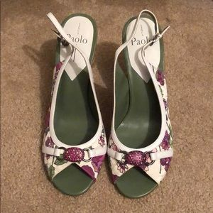 Flower heal shoes